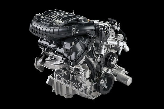 Standard 3.5-liter V6 engine with twin independent variable camshaft timing delivers impressive power and efficiency with towing of 7,600 pounds that can't be beat, 1,910 pounds of payload, 283 horsepower and 255 lb.-ft. of torque.